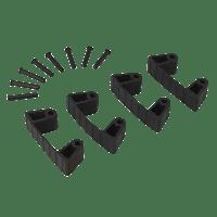 Vikan Hygiene 1019-9 Aanvulset klemmen zwartfull colour 4 klemmen/8 pinnen