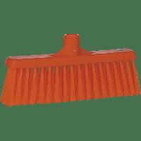 Vikan Hygiene 3166-7 veger met rechte nek medium vezels oranje 310mm