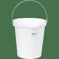 Vikan Hygiene 5686-5 emmer 12 liter wit maatverdeling en schenktuit