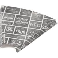 Bak Karton/Coating pizzapuntbakje 171x180x17mm wit/Grijs 2x100 st