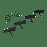 Vikan Hygiene 1016-9 Aanvulset haken zwart full colour 4 haken/8 pinnen