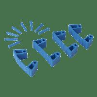 Vikan Hygiene 1019-3 Aanvulset klemmen blauwfull colour 4 klemmen/8 pinnen