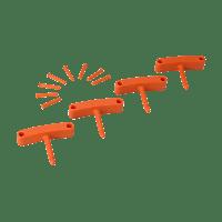 Vikan Hygiene 1016-7 Aanvulset haken oranje full colour 4 haken/8 pinnen