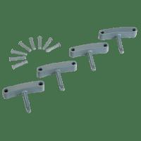 Vikan Hygiene 1016-88 Aanvulset haken grijs full colour 4 haken/8 pinnen