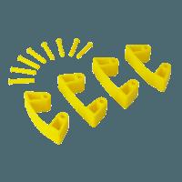 Vikan Hygiene 1019-6 Aanvulset klemmen geelfull colour 4 klemmen/8 pinnen
