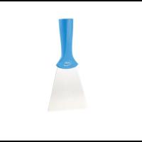 Vikan handschraper/schroefdraad 4011-3 blauw breed rvs blad 100x205mm
