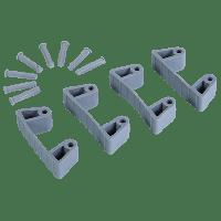Vikan Hygiene 1019-88 Aanvulset klemmen grijsfull colour 4 klemmen/8 pinnen