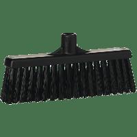 Vikan Hygiene 3166-9 veger met rechte nek medium vezels zwart 310mm