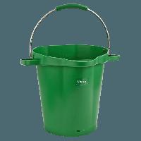 Vikan Hygiene 5692-2 emmer 20 liter groen maatverdeling schenktuit