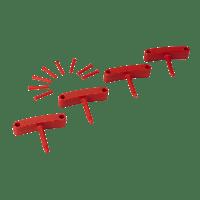 Vikan Hygiene 1016-4 Aanvulset haken rood full colour 4 haken/8 pinnen